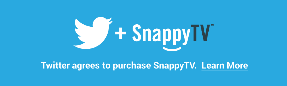 Twitter acquires video startup SnappyTV
