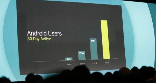 Android now has 1 billion active users per month