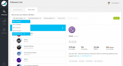 SocialRank now lets you analyze your Twitter followers based on location and keywords