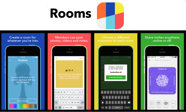 "Facebook launches ""Rooms"" app"