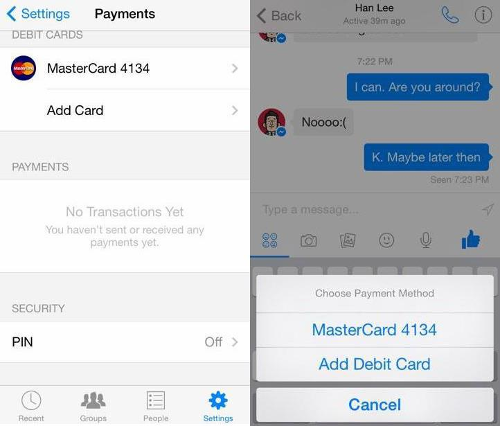 You could be sending money to friends soon using Facebook messenger
