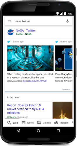 Google To Start Featuring Tweets In Its Search Engine On Mobile