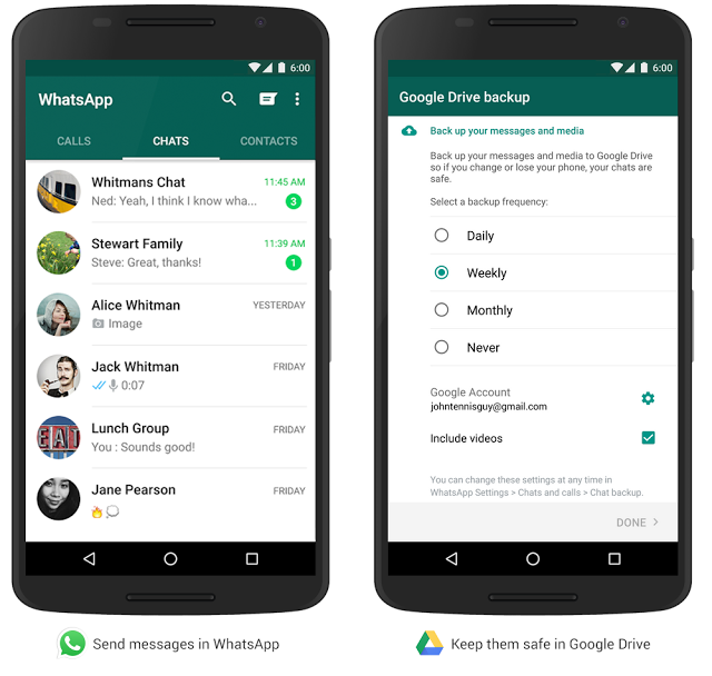 WhatsApp For Android Users Will Soon Be Able To Back Up Their Files To Google Drive