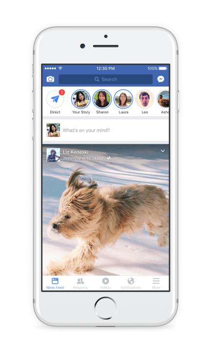 Facebook app Stories
