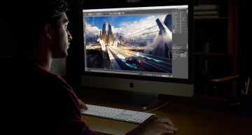 The iMac Pro features 27-inch Retina 5K display