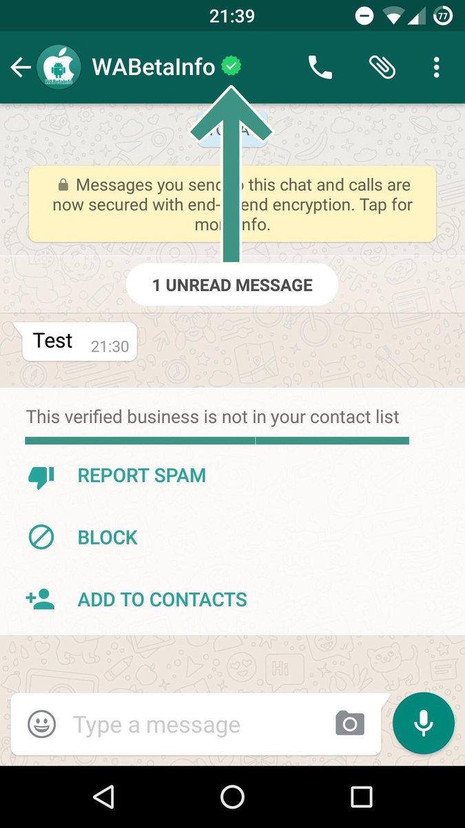 whatsapp verified