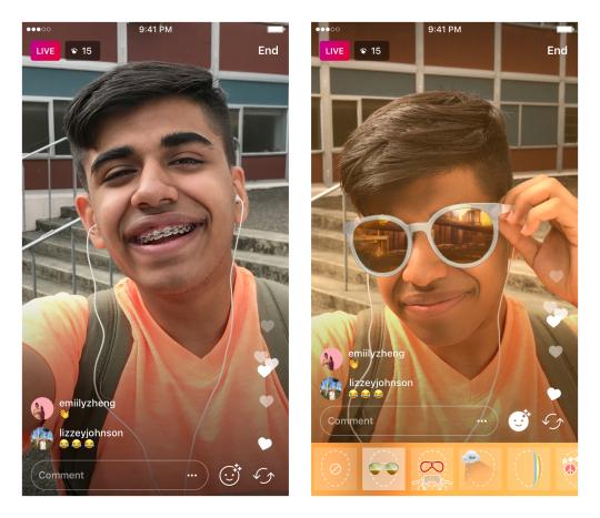 Instagram Live filter