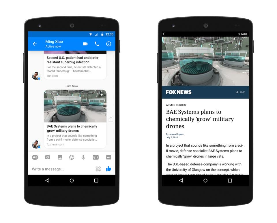 Instant Articles on Messenger